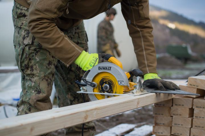 Seabees with 22nd NCR Build Camp Improvements in Voll, Norway