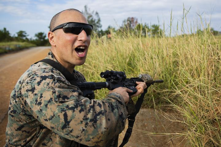 Rush the Enemy | Marines with 3rd MLG execute fire and movement range [Image 1040]