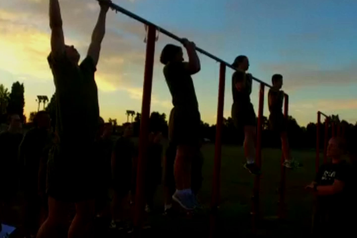 Female Candidate Does 23 Pull-ups