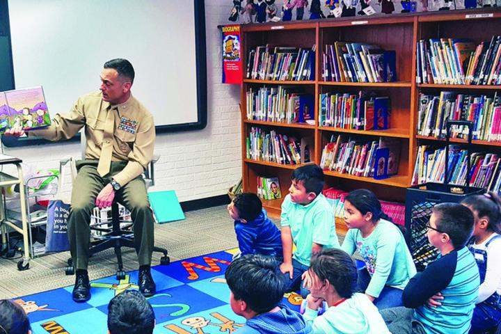 Commander teaches elementary students what makes them different makes...